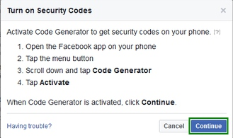 turn on Security Code