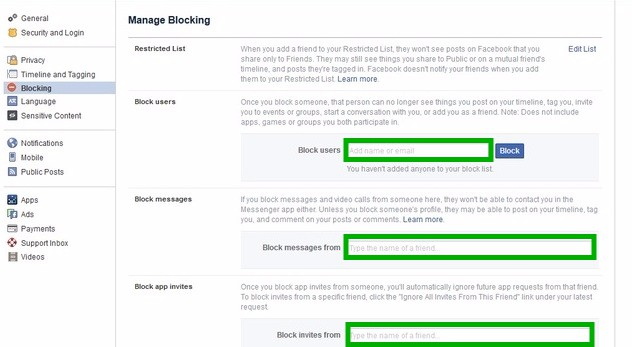 Manage Facebook Block make facebook profile private