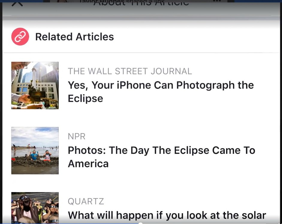 related article on facebook new feature
