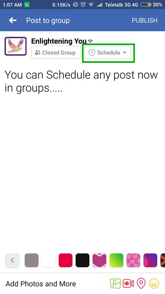 schedule post in facebook groups new facebook features