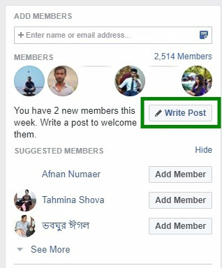 write welcome post facebook group new facebook features