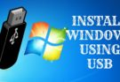 INSTALL WINDOWS 7 USING USB