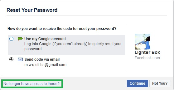 No longer have access to these recover hacked facebook account