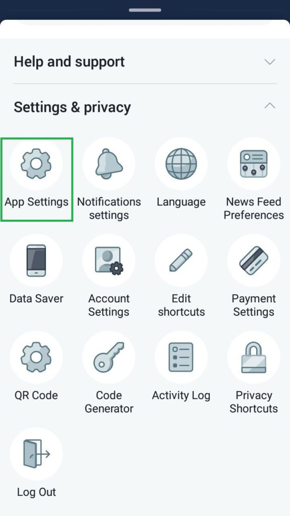 android app setting for facebook video settings