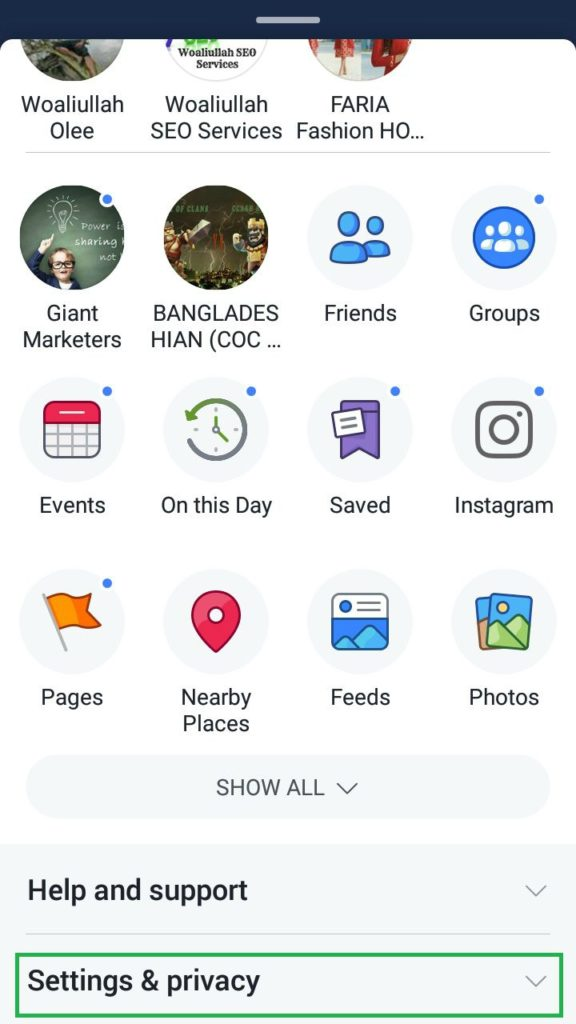 facebook android app settings and privacy facebook video settings