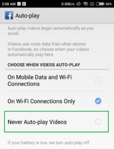 never auto play videos facebook video settings