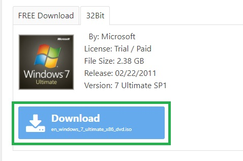 download free windows 7 ultimate 32 bit iso original