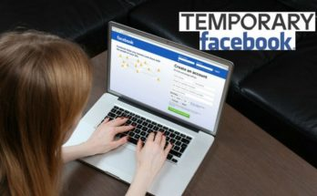 temporay facebook account